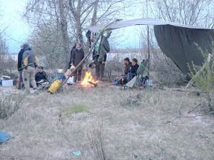 Aufbau des dritten Lagers