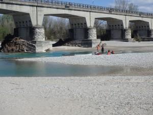 Einsetzen bei der Ponte della Delizia