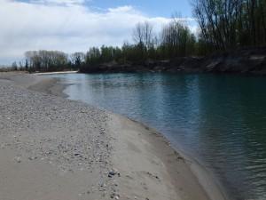 Der Tagliamento am unteren Flussverlauf