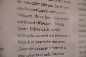 Auszug aus einer Texttafel im Museum