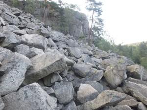 Das Blockmeer von unten