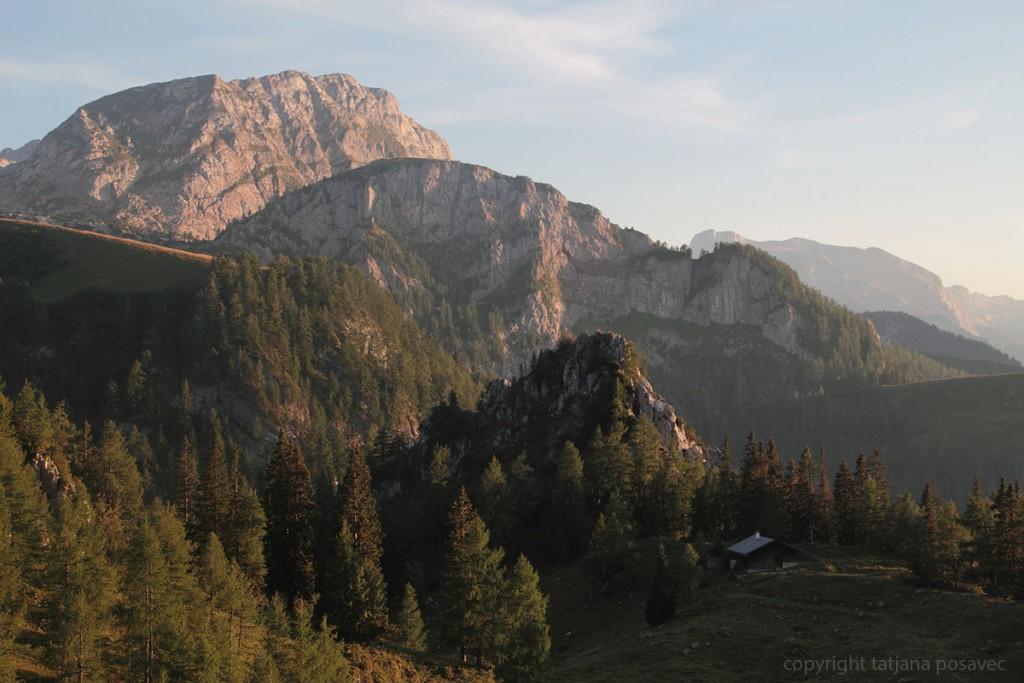 Berge im Abendlicht