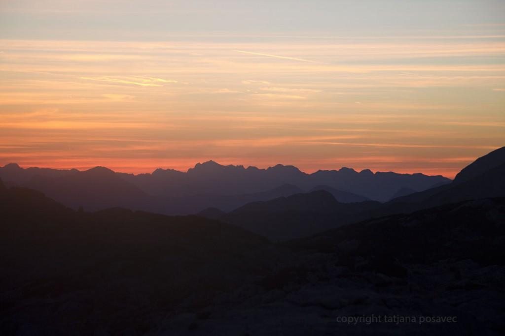 Sonnenaufgang in flammenden Farben