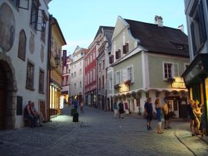 Gasse in der Altstadt von Cesky Krumlov