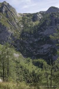 Blick auf den Eisenpfad vom Landtalsteig aus
