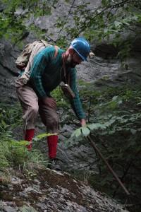 Erwin Dirnberger als Bergsteiger bei der Viamala Notte