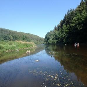 Fluss an ruhiger Stelle