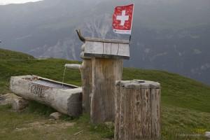 Brunnen mit Getränkekühlung am Parkplatz
