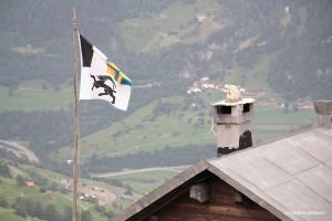 Die Flagge von Graubünden