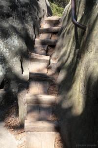 Kleine Holztreppe