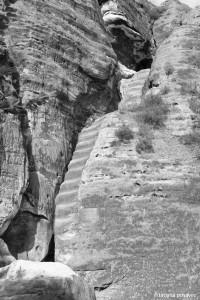 Treppe zur Steinschleuder