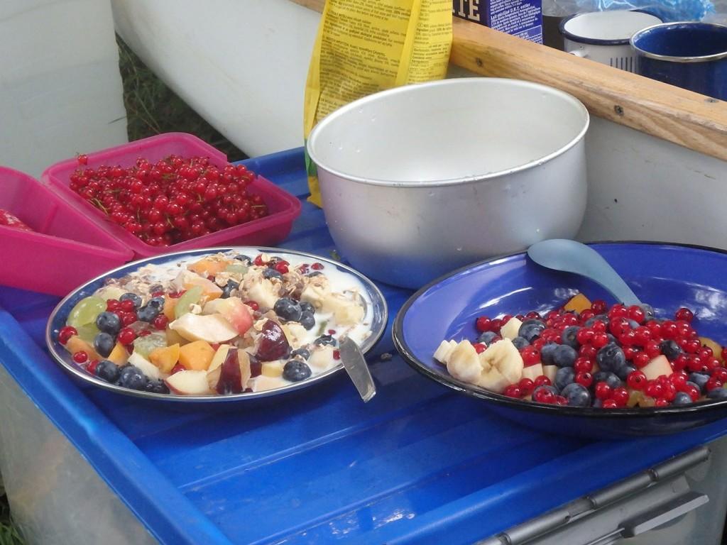 Frühstücksmüsli mit Beeren