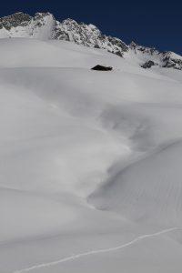Verschneite Kallbrunnalmen