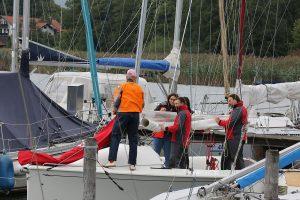 Auftakeln der Boote