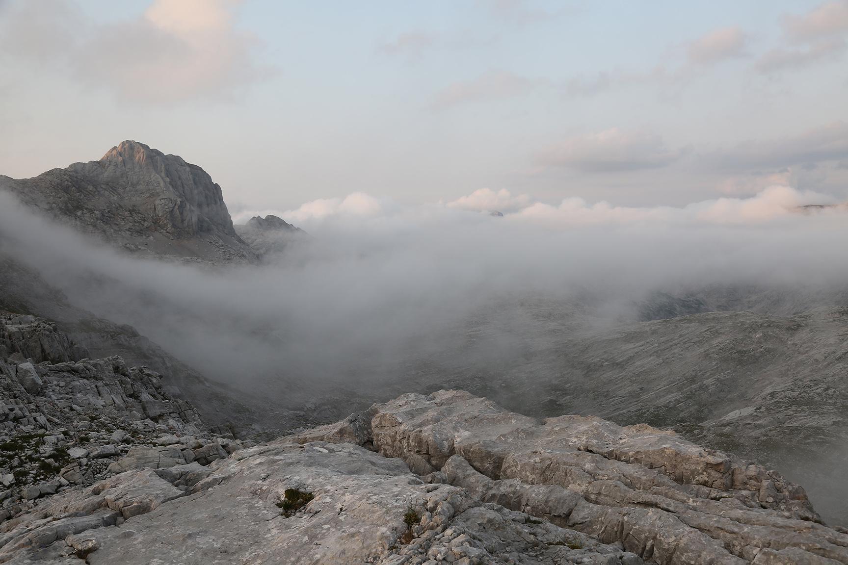 Wolkenschleier am Wildalmrotenkopf